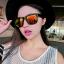 แว่นตากันแดดแฟชั่นเกาหลี กรอบดำมัน เลนส์ปรอทสีทอง thumbnail 1