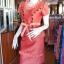 ชุดเสื้อกระโปรงผ้าฝ้ายสุโขทัยแต่งดอกกุหลาบ ไซส์ XL thumbnail 2