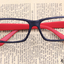แว่นตาแฟชั่นเกาหลี สีดำแดง (ไม่มีเลนส์) thumbnail 1