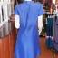 เดรสผ้าฝ้ายสุโขทัยแต่งผ้าหมากรุก ไซส์ M thumbnail 3