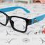 แว่นตาแฟชั่นเกาหลี หัวกระโหลกดำฟ้า (ไม่มีเลนส์) thumbnail 1