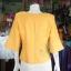 เสื้อผ้าฝ้ายสุโขทัยแต่งลูกไม้ปักมุก สีเหลือง ไซส์ S thumbnail 3