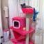 MU0055 คอนโดแมวสามชั้น ต้นไม้แมว มีบ้านอุโมงค์ เปล ของเล่นแขวน สูง 105 cm thumbnail 1