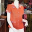 เสื้อผ้าฝ้ายสุโขทัยแต่งผ้าทอลายหมากรุก อัดผ้ากาว ไซส์ L thumbnail 2