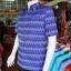 เสื้อสูทผ้าฝ้ายลายมัดหมี่สุโขทัย สีน้ำเงิน ไซส์ 2XL thumbnail 2