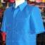 เสื้อสูทไหมผสมฝ้าย สีน้ำเงิน ไซส์ XL thumbnail 4