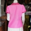 เสื้อผ้าฝ้ายสุโขทัยสีชมพูแต่งผ้ามัดหมี่สุโขทัย ไม่อัดผ้ากาว ไซส์ XL thumbnail 3