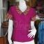 เสื้อผ้าฝ้ายสุโขทัยแต่งผ้ามุกสายรุ้ง อัดผ้ากาว ไซส์ S thumbnail 1