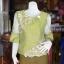 เสื้อผ้าไหมแพรทองแต่งลูกไม้ ไซส์ M thumbnail 1