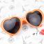 แว่นตากันแดดแฟชั่นเกาหลี กรอบหัวใจสีส้ม thumbnail 2