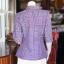 เสื้อผ้าฝ้ายทอลายสก็อต ปกเชิ้ตคอวี ไซส์ L thumbnail 3