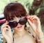 แว่นตากันแดดแฟชั่นเกาหลี กรอบหัวใจสีดำ thumbnail 1