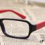 แว่นตาแฟชั่นเกาหลี สีดำแดง (ไม่มีเลนส์) thumbnail 2