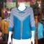 เสื้อคลุมผ้าฝ้ายสุโขทัย แต่งผ้าทอลายมุกสายรุ้ง ไซส์ L thumbnail 1