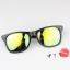 แว่นตากันแดดแฟชั่นเกาหลี กรอบดำสะท้อนแสงเขียวเหลือง thumbnail 2