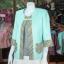 เสื้อคลุมผ้าฝ้ายสุโขทัย แต่งผ้าทอลายมุกสายรุ้ง ไซส์ 2XL thumbnail 3