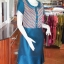 เดรสผ้าฝ้ายสุโขทัยแต่งผ้ามุกสายรุ้ง ไซส์ M thumbnail 3