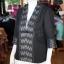 เสื้อคลุมผ้าฝ้ายสุโขทัยสีดำแต่งผ้าลายมัดหมี่สุโขทัย ไซส์ L thumbnail 2