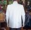 เสื้อสูทไหมแพรทองคอพระราชทานแขนสั้น สีขาวนวล ไซส์ S thumbnail 3
