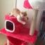MU0055 คอนโดแมวสามชั้น ต้นไม้แมว มีบ้านอุโมงค์ เปล ของเล่นแขวน สูง 105 cm thumbnail 4