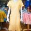 เดรสผ้าฝ้ายสุโขทัย สีเหลือง ไซส์ 2XL thumbnail 1