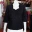 เสื้อผ้าฝ้ายสุโขทัยสีดำ ปักมุก ไซส์ 2XL thumbnail 1