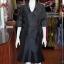 ชุดเสื้อกระโปรงผ้าไหมแพรทองเนื้อเงาสีดำ ไซส์ L thumbnail 1
