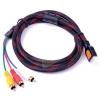 [อุปกรณ์เสริม] สาย HDMI TO 3RCA HD Video Cable AV ความยาว 1.5 เมตร