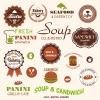 ฉลากอาหาร ของกิน สไตล์การออกแบบดีไซน์แบบใช้สีที่สดุดตา ฉลากไว้ใช้แปะกับแพคเกจกล่องอาหาร,พิซซ่า,แซนวิช // ตัวอย่างดีไซน์ สติ๊กเกอร์ฉลาก Chill Shop Package
