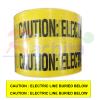 """เทปฝังใต้ดิน สีเหลือง Print """"CAUTION ELECTRIC LINE BURIED BELOW """" กว้าง 15 ซม.(6นิ้ว) ยาว (305 เมตร)"""
