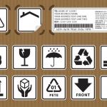 ฉลากป้ายติดพัสดุไปรษณีย์ สไตล์การออกแบบดีไซน์แบบเรียบๆแต่มีสไตล์ ฉลากไว้ใช้แปะกับกล่องบรรจุภัณฑ์ที่ต้องมีความระวังการขนส่ง // ตัวอย่างดีไซน์ สติ๊กเกอร์ฉลาก Chill Shop Package