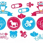 ฉลากแม่และเครื่องใช้ของเด็ก สไตล์การออกแบบดีไซน์แบบใช้สีสันที่สดุดตาสวยงาม ฉลากไว้ใช้แปะกับของใช้ทั่วไปสำหรับเด็ก // ตัวอย่างดีไซน์ สติ๊กเกอร์ฉลาก Chill Shop Package