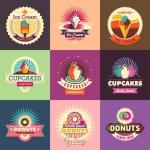 ฉลากอาหาร ของกิน สไตล์การออกแบบดีไซน์แบบใช้สีที่สดุดตา ฉลากไว้ใช้แปะกับแพคเกจเค้ก,คัพเค้ก // ตัวอย่างดีไซน์ สติ๊กเกอร์ฉลาก Chill Shop Package