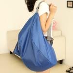 กระเป๋าเป้ backpack ผ้าร่มสีฟ้า แฟชั้นเกาหลี พับเก็บได้