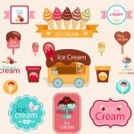 ฉลากอาหาร ของกิน สไตล์การออกแบบดีไซน์แบบใช้สีหวานๆ ฉลากไว้ใช้แปะกับแพคเกจไอศกรีม,ขนม,เบอเกอรี่ // ตัวอย่างดีไซน์ สติ๊กเกอร์ฉลาก Chill Shop Package