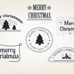 ฉลากกิจกรรมต่างๆและโปรโมชั่น สไตล์การออกแบบดีไซน์แบบเรียบๆแต่มีสไตล์ ฉลากไว้ใช้แปะกับกล่องของขวัญเทศกาลวันคริสต์มาส // ตัวอย่างดีไซน์ สติ๊กเกอร์ฉลาก Chill Shop Package