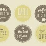ฉลากป้ายประชาสัมพันธ์ สไตล์การออกแบบดีไซน์แบบเรียบๆแต่มีสไตล์ ฉลากไว้ใช้แปะกับสินค้าเกี่ยวกับธุรกิจร้านกาแฟ // ตัวอย่างดีไซน์ สติ๊กเกอร์ฉลาก Chill Shop Package