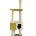 MU0100 คอนโดแมวสี่ชั้น ต้นไม้แมว อุโมงค์บ้าน ของเล่นแขวน สูง 136 CM