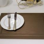แผ่นรองจาน High grade PVC table mat สี dark coffee ขนาด 30 x 45 cm จำนวน 4 แผ่นต่อ 1 ชุด