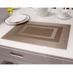 แผ่นรองจาน High grade PVC table mat สี Brown ขนาด 30 x 45 cm จำนวน 4 แผ่นต่อ 1 ชุด
