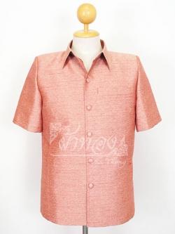 เสื้อสูทไหมผสมฝ้าย สีน้ำตาลอ่อน ไซส์ L