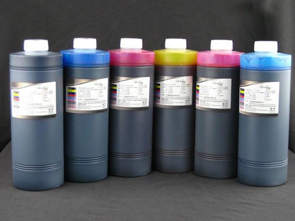 หมึกพิมพ์แบบ Dye (water-based ink) ลักษณะเป็นสารละลาย