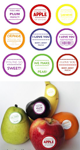 ไอเดียสำหรับการพิมพ์ สติ๊กเกอร์ฉลากสินค้า // สไตล์การออกแบบ ดีไซน์น่ารัก ฉลากใช้สำหรับ แปะกับผลไม้