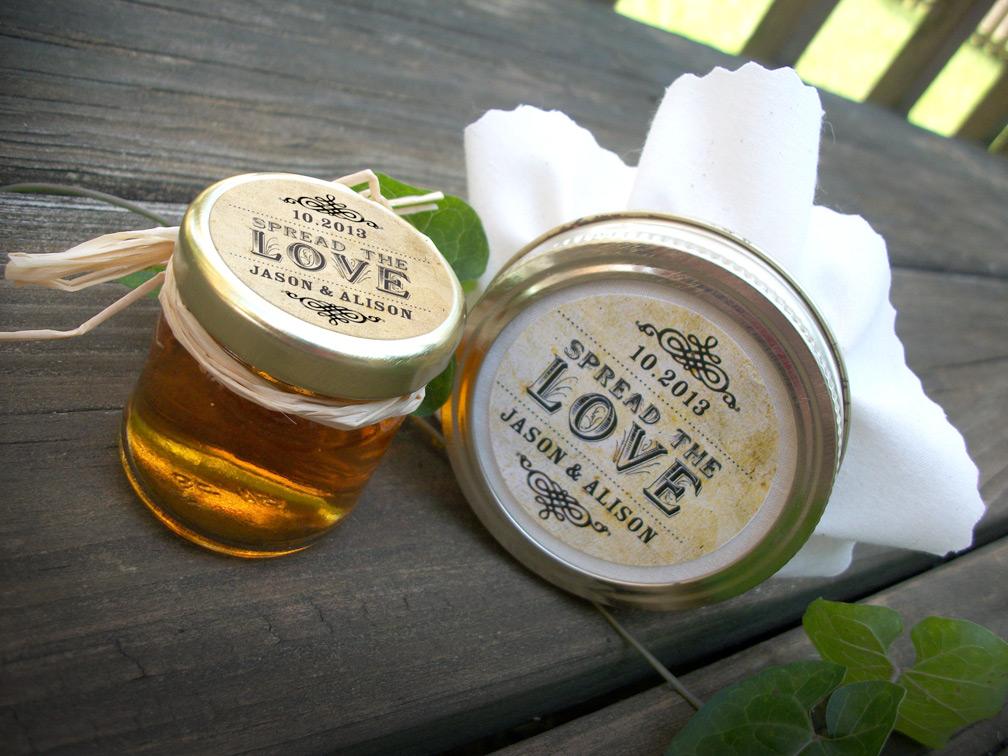 ไอเดียสำหรับการพิมพ์ สติ๊กเกอร์ฉลากสินค้า // สไตล์การออกแบบ ดีไซน์แบบวินเทจ ฉลากไว้ใช้สำหรับ แปะกับกระปุกน้ำผึ้ง
