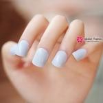 เล็บปลอม เกาหลี แฟชั่น สี Cream Blue