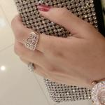 แหวนทองติดเพชรไฮโซ (size 18)