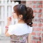 hair pieceเกาหลี ทนความร้อนอย่างดี(สีดำ)