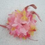 ยางรัดผมช่อดอกไม้ (สีชมพู)