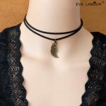 Necklace Organic Leather Necklace Wings สร้อยคอหนังปีกอินทรีย์