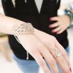 แหวนสร้อยคอมือสไตล์พังก์ในยุโรปและอเมริกา(สีทอง)